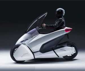 Motorcycle or Car from Honda 3R-C Electric Concept