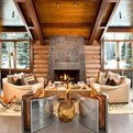 Moody Cabin, Blends Rustic and Modern Details