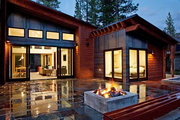 Mountain modern prefab in california by sagemodern for Modern mountain house plans