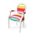 Multicolor Louis XV Chairs by Dransfield and Ross