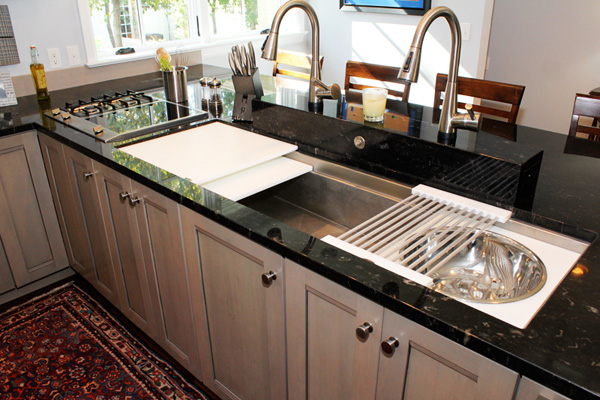 Multifunctional kitchen sink for Galley kitchen sink