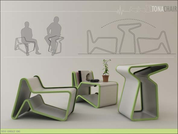 Multipurpose Furniture Tona Chair By Diego Gonzalez King
