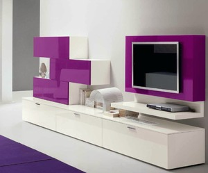 Muro High Gloss Entertainment Storage Unit