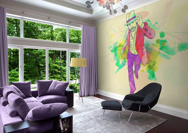 Musicology celebrity wall murals for Celebrity mural