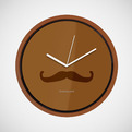 Mustache Wall Clock by Kikkerland
