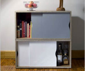 Naked Line: cabinets made from 100 percent pre-consumer waste wood