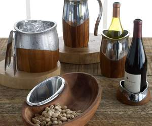 Nambe Metal & Wood Serveware