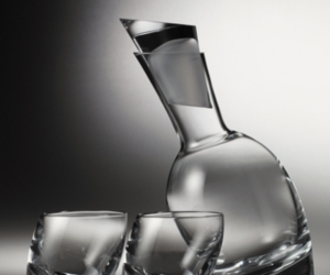 "Nambe ""Tilt"" Decanter Set"