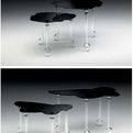Narciso e Aurora Glass End Tables by Chiara Lampugnani