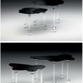 Narciso e Aurora Glass End Tables by Chiara Lampugnani