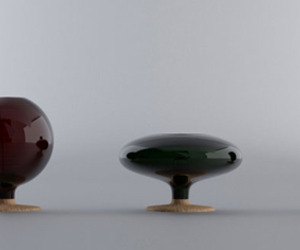 Natura lamp and vase by Hector Serrano