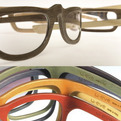 Natural and Stained Wood Eyeglass frames from Italy