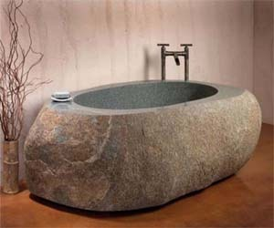 Natural Bathtub from Stone Black