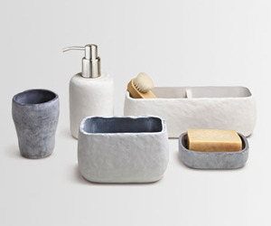Natural touch bathset accessories