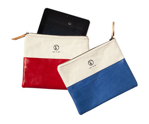 Nautical Inspired Traveler's Clutch by Fleabags