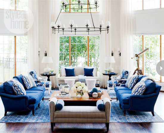 nautical-style waterfront cottage