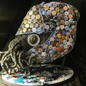 Nautilus Made From Recycled Objects