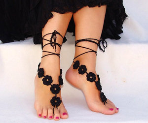 Needlework And Crocheted Sandals