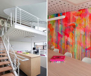Neon Office by Clare Cousins