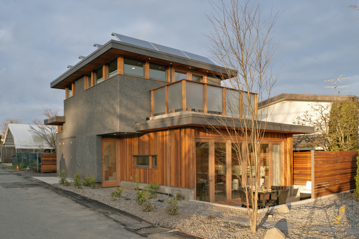 Net zero energy house by lanefab design build for Zero house plans