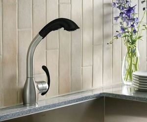 Neva Faucet with Soft Grip Finish from Moen