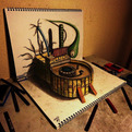 New 3D Sketchbook Drawings from Nagai Hideyuki