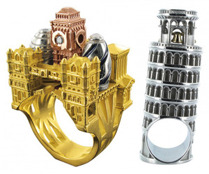 New Architectural Rings: London, Pisa & French Kiss