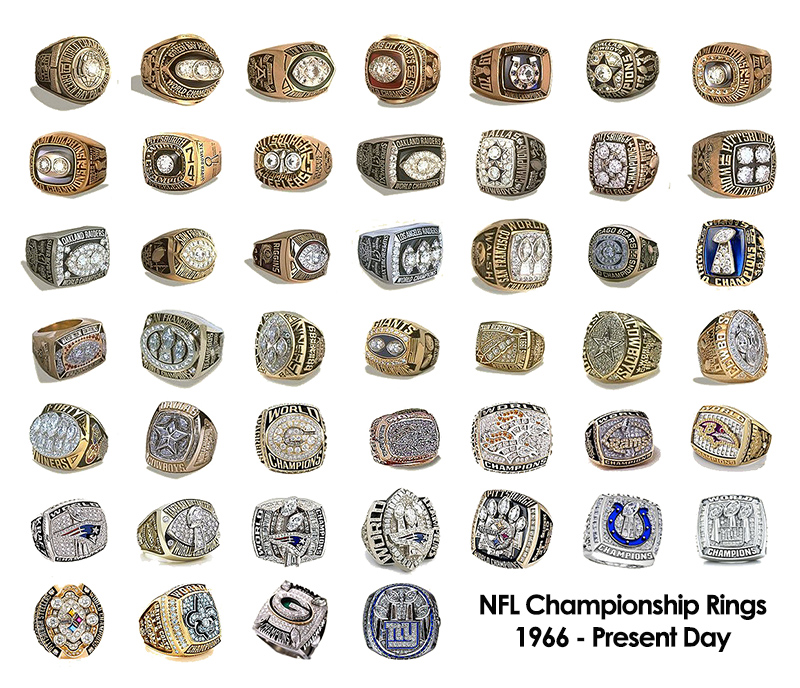 New details and images of all the super bowl rings