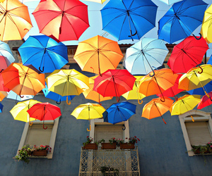 New Floating Colorful Umbrellas in Agueda by Ivo Tavares