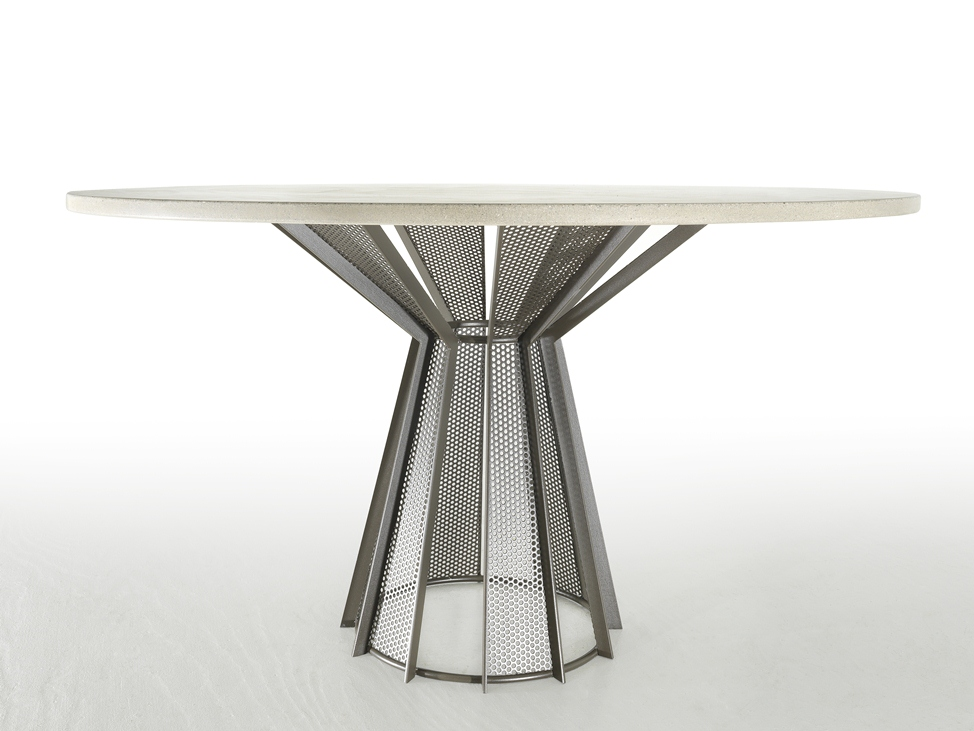 White Round Modern Dining Table modern circle dining table