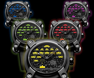 New Ltd Edition SPACE INVADERS Watches by Romain Jerome