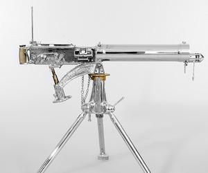 Nickel-Polished .303 Vickers Machine Gun