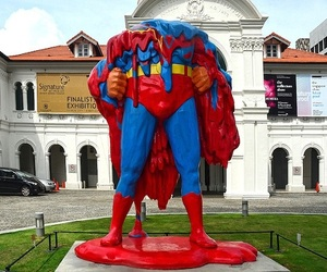 'No One Can Save Us Now' Melting Superman Sculpture