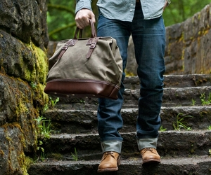 Northwesterner Series Bag by Wood&Faulk.