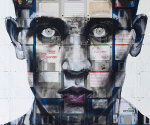 Obsolete Floppy Disks Become Portraits