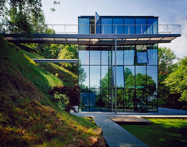 Off The Grid Green House With Glass Facade
