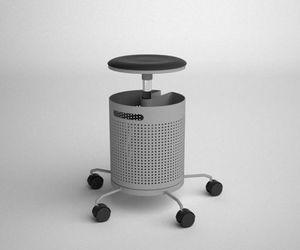 Office Chair with Waste Basket