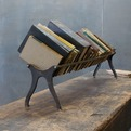 Old Low Cast Iron Nickel Book Shelf Rail