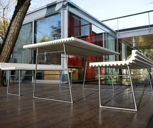 Olithas Concrete Table and Benches