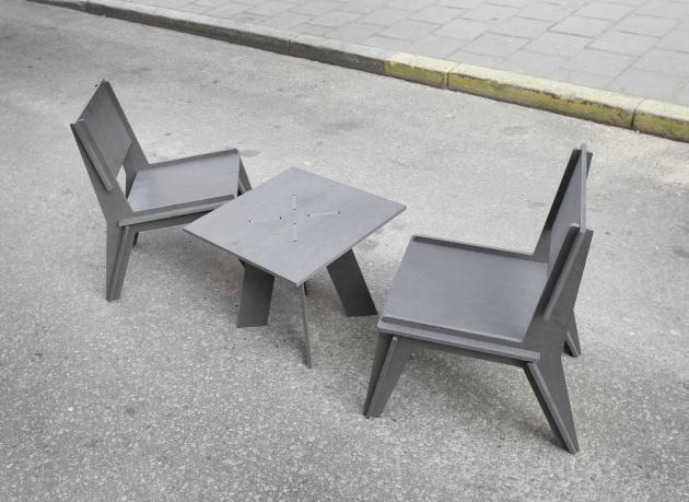 One Night flatpack furniture by Sebastian Kjersen