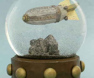 One of A Kind Steampunk Snow Globes