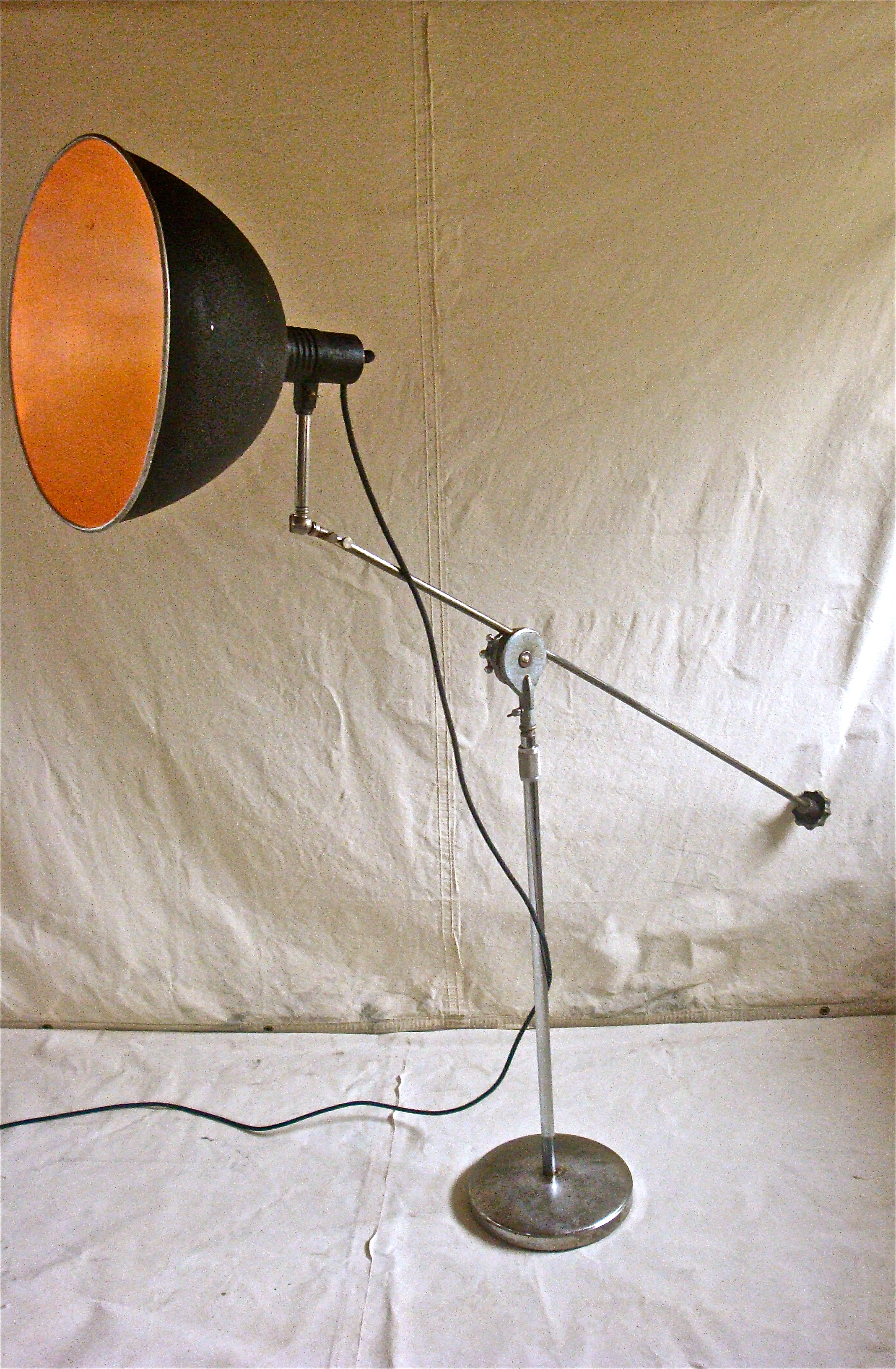 one of a kind vintage industrial floor lamp. Black Bedroom Furniture Sets. Home Design Ideas