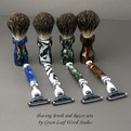 OOAK Shaving Brush and Razor Sets