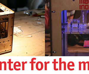 Open Source 3D printer for the Masses