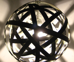 Orbits recycled wine barrel metal hoops urban chandelier
