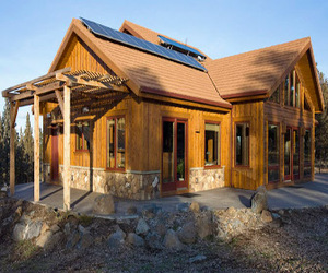 Oregon timber frame house