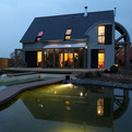 Organic and Bioclimatic House in Brittany by Patrice Bideau