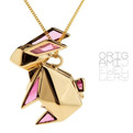 Origami Rabbit Necklace by Origami Jewellery