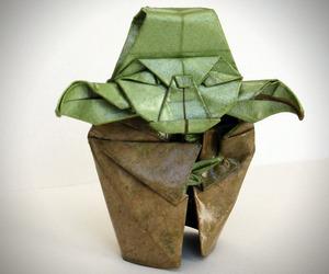 Origami Yoda Sculpture