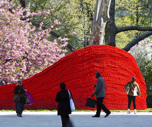 Orly Genger's installation at Madison Square Park